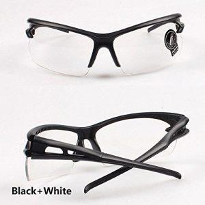 Cyclisme Lunettes de ski en plein air de protection UV Lunettes de soleil, noir/blanc