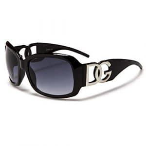 DG Eyewear à Lunettes de Soleil Femme Noir – Saison 2017 – La Mode et UV400 Protection (UVA & UVB) – Nouvelle 2017 Collection (Modele: DG Classique)