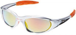X-Loop-lunettes de soleil sport cyclisme, le ski, la course, le kayak-l'escalade, la pêche modèle spectre/1002/gris/orange taille unique-adulte – 100% protection uV400