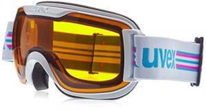 UVEX Downhill 2000S Race, Lunettes de ski pour adultes, taille unique, Blanc/noir