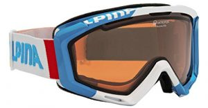 Alpina Lunettes de ski pour adulte panoma QH taille unique – Blanc/bleu clair