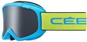 Cébé Jerry 2 Masque de Ski Mixte Enfant, Bleu Lime Mat, XS
