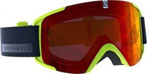 Salomon Unisexe Masque de Ski, Temps Variable, Écran Rouge Multicouche (Interchangeable), Système Airflow, XVIEW, Vert Clair, L39903400