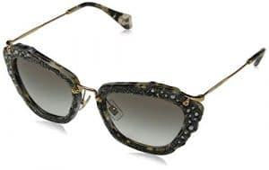 Miu Miu femme 0Mu04Qs Dhe0A7 55 Montures de lunettes, Noir (Havana Marble White/Black/Gradient)
