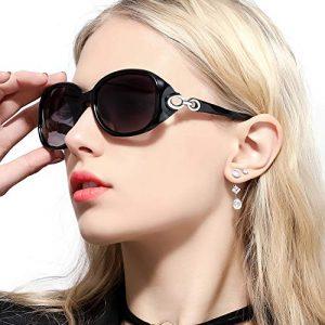 FIMILU lunette de soleil grande femme (Noir)