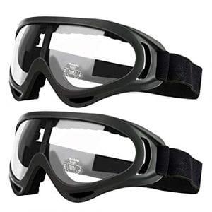 Paquet de 2 Lunettes de sécurité pour Enfants avec Protection Anti-buée et Anti-UV Parfait pour Les Armes à feu à Mousse