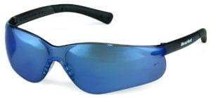 Crews BK318 BearKat 3 Polycarbonate Blue Mirror Lens Safety Glasses with Non-Slip Hybrid Black Temple Sleeve, 1 Pair