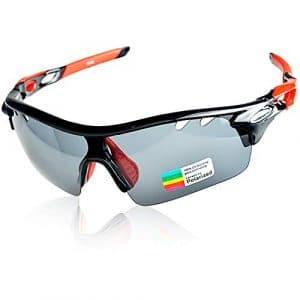 Snowledge Lunettes de Soleil de Sport polarisées pour Lunettes de Cyclisme pour Hommes et Femmes avec Protection UV400