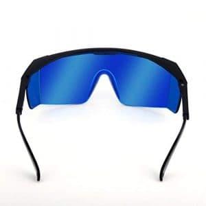 LouiseEvel215 Lunettes de sécurité de Laser pour Les Lunettes de Protection Rondes d'absorption de Protection d'absorption Violette/Bleue 200-450/800-2000nm