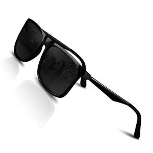 CHEREEKI Lunette de soleil Polarisées pour Hommes et Femme Protection UV400,Lumière et Mode