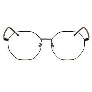 Cyxus Blocage de la lumière bleue [Lunettes anti-fatigue oculaire],Lunettes de lecture rétro à verres transparents, hommes/femmes (Noir Mat #2)
