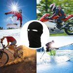 FENTI Masque Protection Lycra 2 trous de lait Taille Outdoor Ski Snow Surf Moto Biker Quad Noir