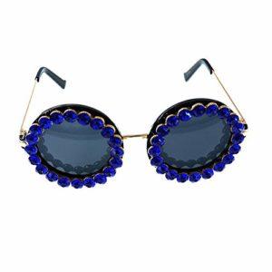 hmjsmj Lunettes de soleil de fleur de diamant de femmes, vacances, plage, ombre, lunettes de soleil décoratives
