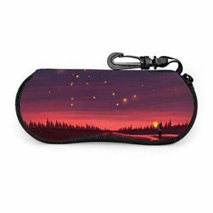KANKANHAHA Étui de lunettes de soleil pour femme, portable de voyage avec fermeture éclair pour lunettes de soleil