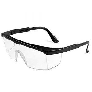 Lunettes de sécurité pour Les Yeux – Verres Transparents Anti-buée – Anti-éclaboussures – Anti-Rayures et Anti-Chocs – Protection UV