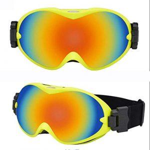 Lunettes de ski Lunettes de ski pour hommes Lunettes anti-buée anti-UV anti-UV HD Miroir d'extérieur universel