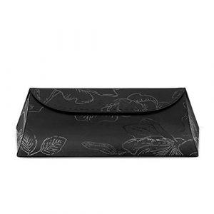 Lunettes de Soleil Afficher Organisateur Étui à Lunettes de Soleil Pliant pour boîte de Rangement à Lunettes à Bascule, Noir Stockage et Collector Box