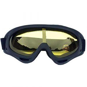Lunettes de Soleil Ski Lunettes de Ski de Neige d'hiver Snowboard Lunettes Anti-buée Masque Big Ski Lunettes de Protection UV for Les Hommes des Femmes Jeunes (Color : D)