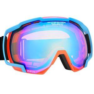 Masque lunettes de ski et de snowboard avec disque double orange H890–4