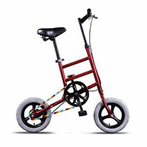 MEICHEN Creative 12 « Bicyclette de vélo de Route BMX Mini-véhicule de Transport de Parc de vélo Rue de Loisirs Ultra léger vélo Bicyclette Non Pliable,C