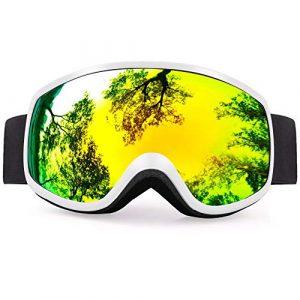 MUZIWENJU Gafas de esquí Lentes coloridas Invierno Nieve Deportes Snowboard Gafas Anti-Niebla protección UV niños esquí máscara esquí Gafas de esquí D30 (Couleur : White Without Box)