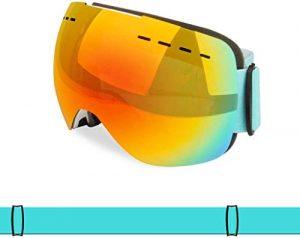 MWKLW Lunettes de Sports de Plein air, Lunettes de Ski pour Hommes et Femmes, Double Pare-Brise Anti-buée et Anti-UV sphérique