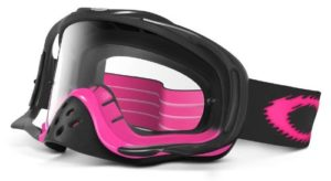 Oakley Crowbar MX Lunettes de soleil ou vélo moto Masque, mixte, Jet Black/Pink Fade (Black) Frame/Clear Lens, taille unique