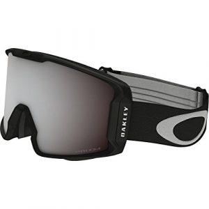 Oakley Line Miner Masque de Ski Mixte Adulte, Matte Black/Prizm Black Iridium