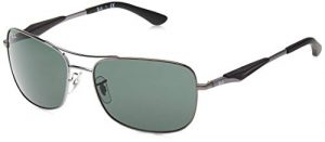 Ray-Ban Rb 3515 Montures de lunettes, Gris (Gunmetal), 61 mm Mixte Adulte
