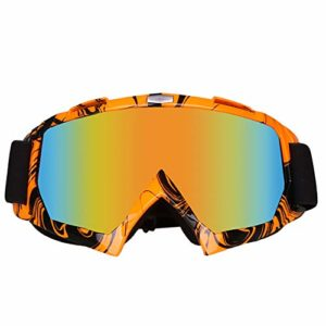 SLDSM Ski Snowboard Lunettes, Lunettes Unisexe Adulte de Ski avec Un Design Anti-UV Convient pour l'expansion Alpinisme Alpinisme Protection du Travail,4#