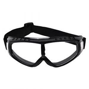 SODIAL(R) Lunette de protection avec une lentille transparent Lunettes a bordures noir lunettes de ski lunettes de sport