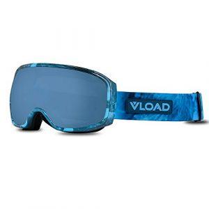 XIN-CHANG Matériel équestre Lunettes de Ski Double Couche Anti-buée Grandes Lunettes de Ski sphériques Cocaine Myopia Objectifs normalisés Unisexe V-90 (Color : Light Blue-5, Size : L)
