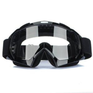Xrten Lunettes de Protection Masque de Visage Incassable Anti-UV, Lunettes Clair Moto Cross Goggle-Noir
