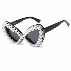 Yying Cristal Cat Eye Lunettes de Soleil Femmes Strass Vintage Party Sexy Rayons UV400 Lunettes de Soleil