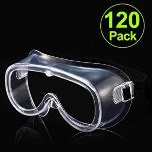 Carfia Lunette de Protection Lunettes de sécurité Lunettes Anti-Buée Anti-Buée Anti-éclaboussures Lunettes de protection des yeux