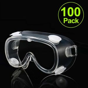 Carfia Lunette de Protection Lunettes de sécurité Lunettes Anti-Buée Anti-éclaboussures Lunettes de protection des yeux