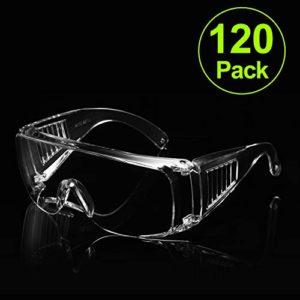 Carfia Lunettes de sécurité Clear Anti-Fog Anti-spitting Splash Dustproof Lens Personal Eye Protection Lunettes