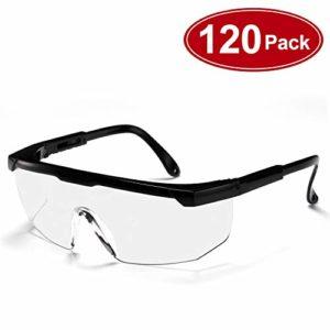 Carfia Lunettes de sécurité Lunette de Protection Lunettes Anti-Buée Anti-Buée Anti-éclaboussures Lunettes de protection des yeux
