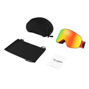 Green Outad Lunettes de ski double couche anti-buée UV pour patinage, snowboard