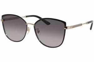 Gucci Lunettes de Soleil GG0589SK BLACK GOLD/GREY SHADED 57/16/150 femme