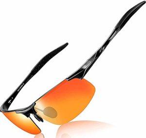 Hommes Mode conduite, lunettes de soleil polarisées cadre en métal ultra léger for cadre en métal Cyclisme Pêche Golf Lunettes yqaae