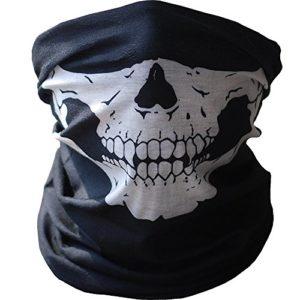 Imixcity® Multifonction Masque Crâne Poussière Protection Bandana Moto Polyester Écharpe Visage -Tubulaire (Nior, Skull)