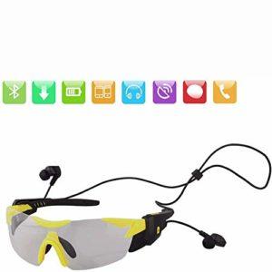 JNWEIYU Nuit Lunettes Bluetooth os Mode Bluetooth Intelligent Lunettes de Sport, V4.1 Rapport Vocal extérieur Multifonctionnel polarisants Vélo Lunettes (Color : E)