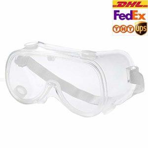 Lunettes de protection de sécurité anti-buée cristal transparent protection des yeux contre les éclaboussures liquides anti-poussière lunettes lunettes réglables unisexe, 200 PCS, 1