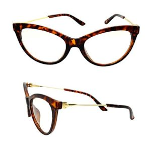 Lunettes Vue Femme CATHY Marron écaille ŒIL CHAT PAPILLON OR Fine Chic Cat eyes