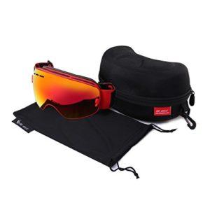Verts Lunettes de ski de neige durables double lentille anti-buée coupe-vent