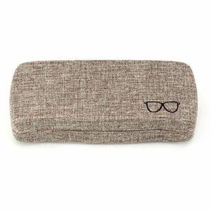 Boîte de Rangement pour Lunettes de Soleil Hard Shell Eyeglass Case de Protection Convient Cas la Plupart des Verres et Lunettes de Soleil Convient for Hommes Femmes Organisateur de Lunettes