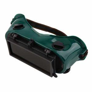 DF-FR Lunettes de soudage Lunettes de soudage Portables avec Lunettes de meulage sécuritaires et de Protection pour la Coupe, Noir et Vert