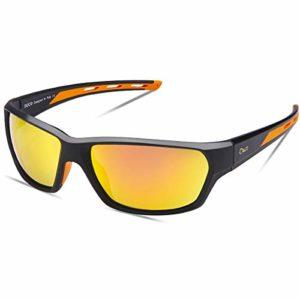 Duco Lunettes de Soleil Polarisées pour Hommes et Femmes, Sports Lunettes De Soleil Protection UV400 et Légères pour Conduite Vélo Pêche Golf Et Activités D'extérieur 6201 (Noir)