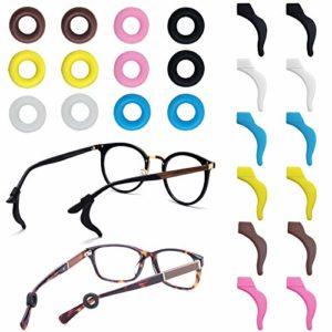 FineGood Lot de 12 paires de retenue de lunettes en silicone antidérapant